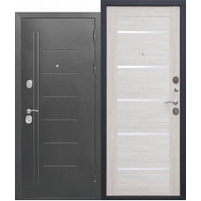 Входная дверь Троя Серебро/Лиственница беж