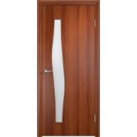 Межкомнатная дверь Волна стекло итальянский орех