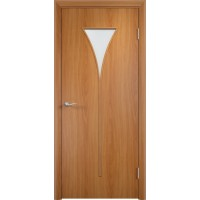 Межкомнатная дверь Салют стекло миланский орех