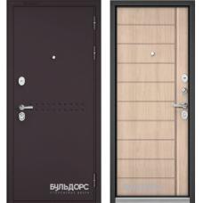 Входная дверь Бульдорс 90 Букле шоколад/Ларче бьянко