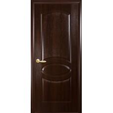 Межкомнатная дверь Фортис овал каштан глухой