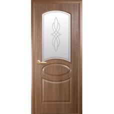 Межкомнатная дверь Фортис овал ольха стекло