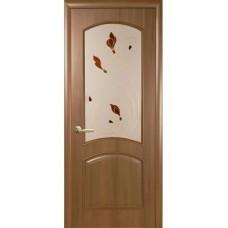 Дверь межкомнатная  Новый стиль Аве стекло ольха