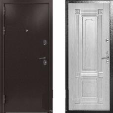Входная дверь  Kvadra Термо беленый дуб