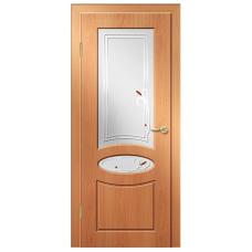 Межкомнатная дверь ДверЛайн Алина стекло милан. орех