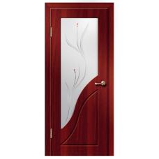 Межкомнатная дверь ДверЛайн Жасмин стекло итал.орех