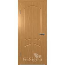 Межкомнатная дверь Сигма глухая миланский орех