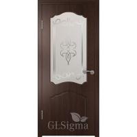 Межкомнатная дверь Сигма остекленная Венге