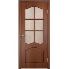 Межкомнатная дверь Лидия стекло итальянский орех