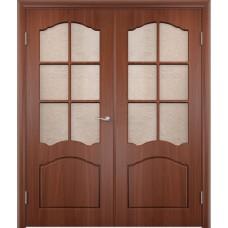 Двухстворчатая  дверь ПВХ