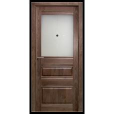 Межкомнатная дверь Омега стекло дуб шоколадный