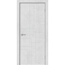 Дверь GEOMETRY 3 бетон снежный