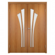 Двухстворчатая  ламинированная дверь