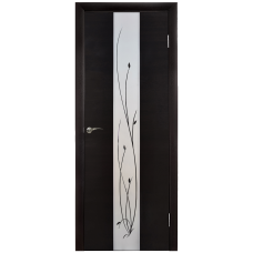 Межкомнатная дверь Зеркало3 Венге