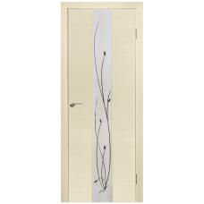 Межкомнатная дверь Зеркало3 беленый дуб