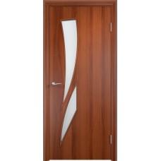 Межкомнатная дверь Стрелеция стекло итальянский орех