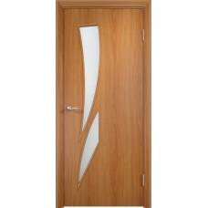Межкомнатная дверь Стрелеция стекло миланскийй орех