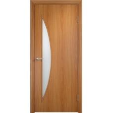 Межкомнатная дверь Луна стекло миланскийй орех