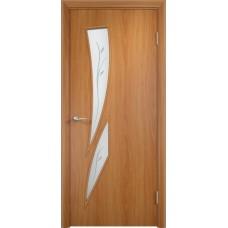Межкомнатная дверь Стрелеция фьюзинг миланскийй орех
