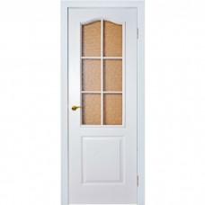 Межкомнатная дверь Палитра Стекло Белая