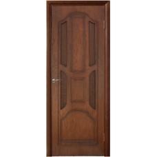 Межкомнатная дверь Ампир стекло мореный дуб