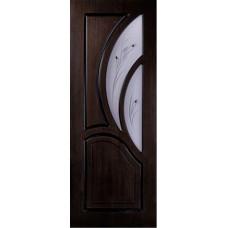 Межкомнатная дверь Карелия стекло венге