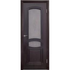 Межкомнатная дверь  Румакс Троя стекло мореный дуб