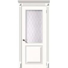 Дверь Квадро белая эмаль