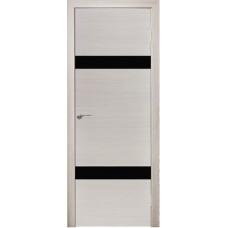 Межкомнатная дверь Модерн 502 Ива стекло черное