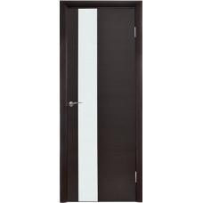 Межкомнатная дверь Модерн 504 Венге поперечный стекло белое