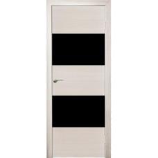 Межкомнатная дверь Модерн 508 ива стекло черное