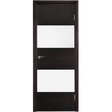 Межкомнатная дверь Модерн 508 Венге поперечный стекло белое