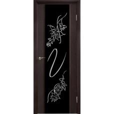 Межкомнатная дверь Триплекс Цветок африканский орех