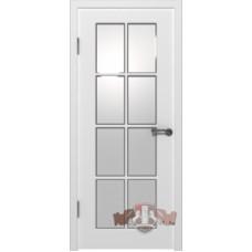 Порта белая остекленная