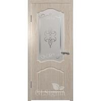 Межкомнатная дверь Сигма остекленная Беленый дуб
