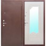 Входная дверь Ампир Зеркало Беленый дуб