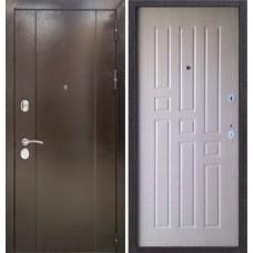 Входная дверь Эталон 10 дуб  молочный