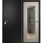 Входная дверь Ретвизан Аризона Черный шелк/Дуб крем с зеркалом