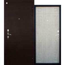 Входная дверь Алмаз Гранат белёный дуб